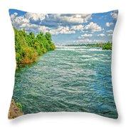 Waters Feeding Niagara Falls Throw Pillow