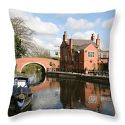 Waterside Pub Throw Pillow