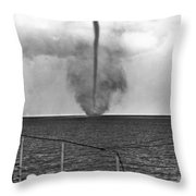 Waterspout In China Throw Pillow