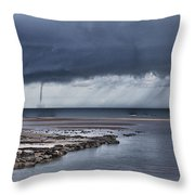 Waterspout Over The Ocean Throw Pillow
