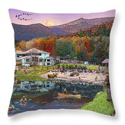 Waterville Estates In Autumn Throw Pillow by Nancy Griswold