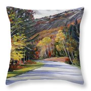 Waterville Road New Hampshire Throw Pillow