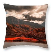 Waterway-kauai Hawaii Throw Pillow