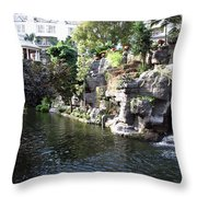 Waterway View Inside The Opryland Hotel In Nashville Tennessee In 2009 Throw Pillow