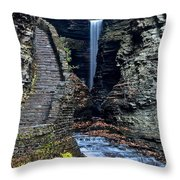 Watkins Glen Central Cascade Throw Pillow