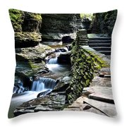 Watkins Glen State Park Throw Pillow by Frozen in Time Fine Art Photography