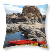 Watson Lake Throw Pillow by Diane Greco-Lesser