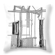 Watts Steam Engine, 1769 Throw Pillow