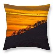 Watts Valley Sunset Throw Pillow