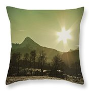 Watzmann At New Year Throw Pillow