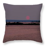 Waubaushene Sunset Throw Pillow
