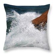 Wave Action Florianopolis Throw Pillow