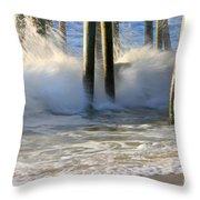 Wave Art 9 Throw Pillow