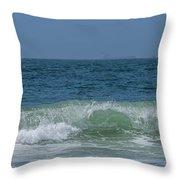 Wave At Seal Beach Throw Pillow