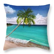 Wave Break Beach Throw Pillow
