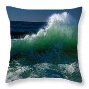 Wave Crashing On Pacific Coast, Oregon Throw Pillow