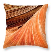 Wave Lines Throw Pillow