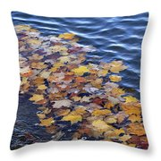 Wave Of Fall Leaves Throw Pillow