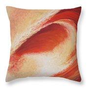 Wave Orange II Throw Pillow