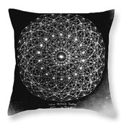Wave Particle Duality Black White Throw Pillow