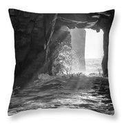 Wave Rave Throw Pillow