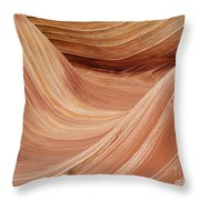 Wave Rock 3 At Coyote Buttes Throw Pillow