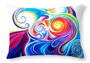 Wave Set Throw Pillow