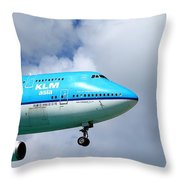 Wave To The Captain Throw Pillow