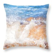 Wave Up Close Throw Pillow