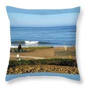 Wave Upon San Simeon Shore Throw Pillow