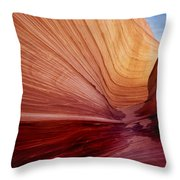 Wave Utah Throw Pillow