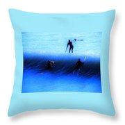 Wave Walker Throw Pillow