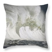 Wave Whitewash Throw Pillow