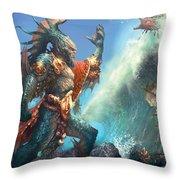 Wavecrash Triton Throw Pillow