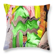 Wavering Throw Pillow