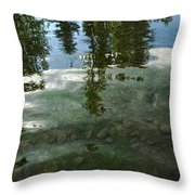 Wavering Reflections Throw Pillow