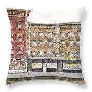 Waverly Diner In Greenwich Village Throw Pillow