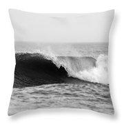 Waves Along The Shore Throw Pillow