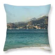 Waves And Sky Throw Pillow