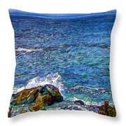 Waves And Splashes Throw Pillow