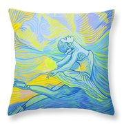 Waves And The Wind Throw Pillow