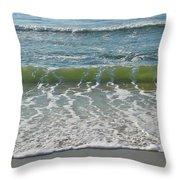 Waves At 7 Am Throw Pillow