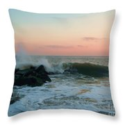 Waves At The Point West Cape May Nj Throw Pillow