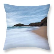 Waves Breaking At Murder Hole  County Throw Pillow