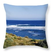 Waves Breaking On The Beach, Western Throw Pillow