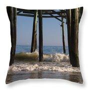 Waves Crash In Throw Pillow