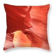 Waves Faces And Light Throw Pillow