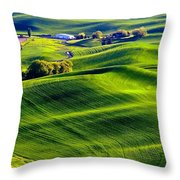 Waves In Nature Throw Pillow