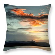 Waves In The Clouds Throw Pillow