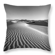 Waves In The Distance Throw Pillow